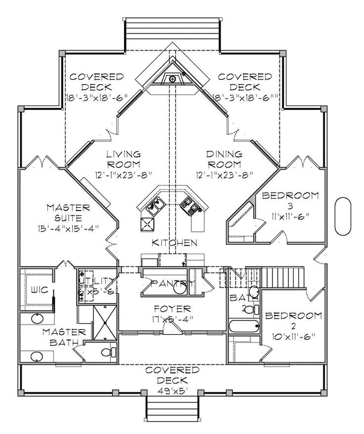 Lakefront House Plan chp-54024 at COOLhouseplans.com