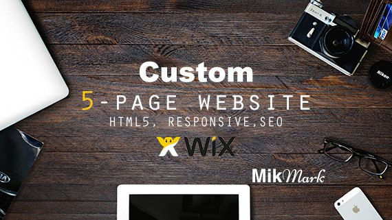 Wix website   Custom website design 5-page  HTML5 SEO by MikMark