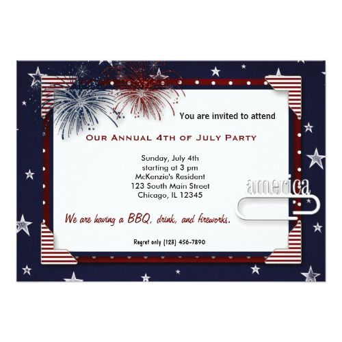 25 best bonfire party invites images on pinterest barbecue 4th of july bbq party card stopboris Gallery