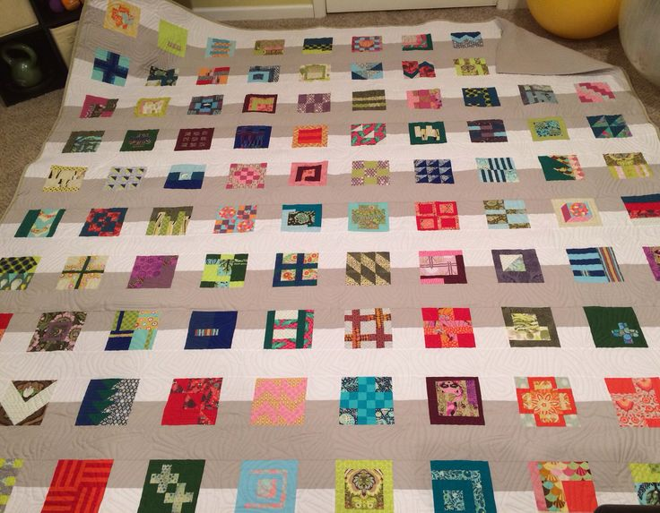 My 100 Modern Quilt Blocks Quilt - Tula Pink -- i especially like the new take on sashing!