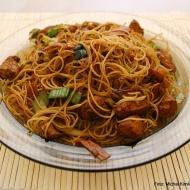 Opékané čínské rýžové nudle
