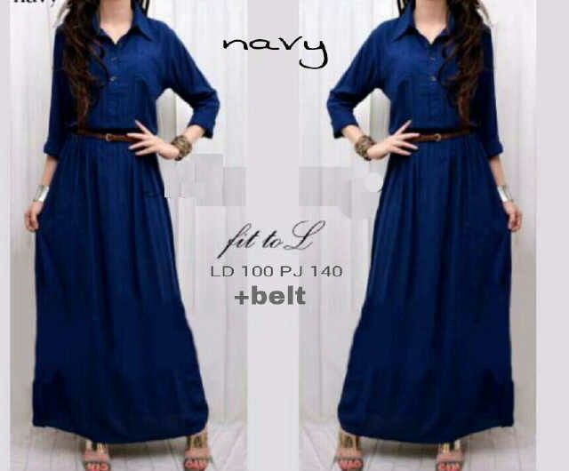 Maxy Navy Rp.75rb Min2 Rp.70rb, katun Rayon, all size fit to L, ready