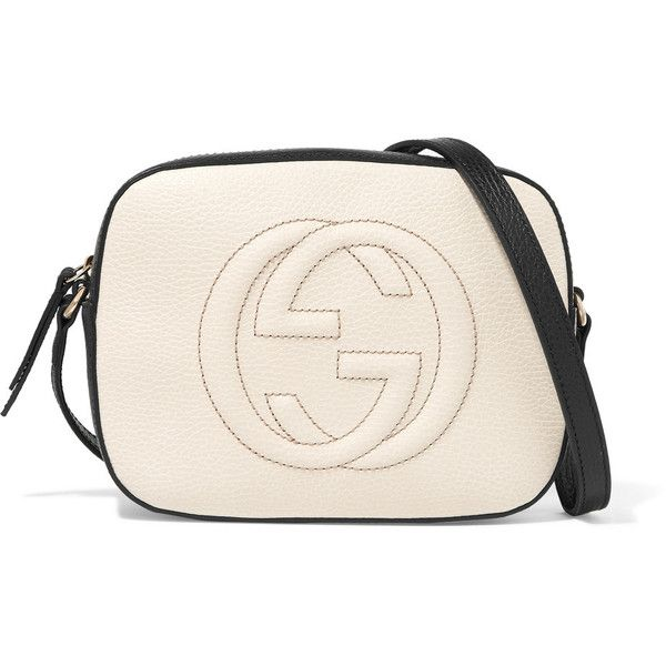 Gucci Soho Disco textured-leather shoulder bag ($820) ❤ liked on Polyvore featuring bags, handbags, shoulder bags, white shoulder bag, gucci, shoulder handbags, quilted purses and quilted shoulder handbags