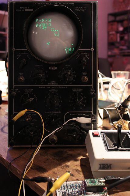 Space Rocks on the oscillograph by hudson, via Flickr