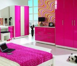 Wonderful Hot Pink Bedroom