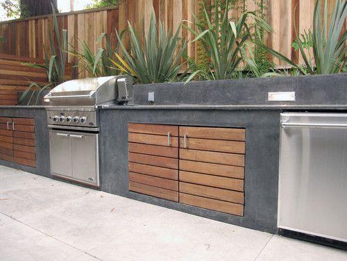 Spa Oasis modern landscape - outdoor kitchen: