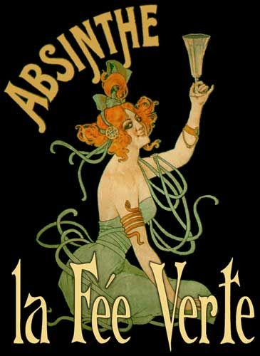 Noveau absinthe poster