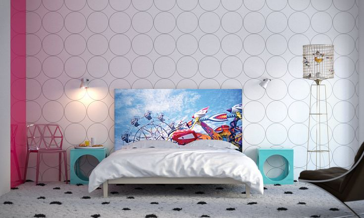 Bedroom - Curtsey of Astrid Oyo in Bedroom Make overs on a Whim, NOYO Headboards With Interchangeable Slipcovers