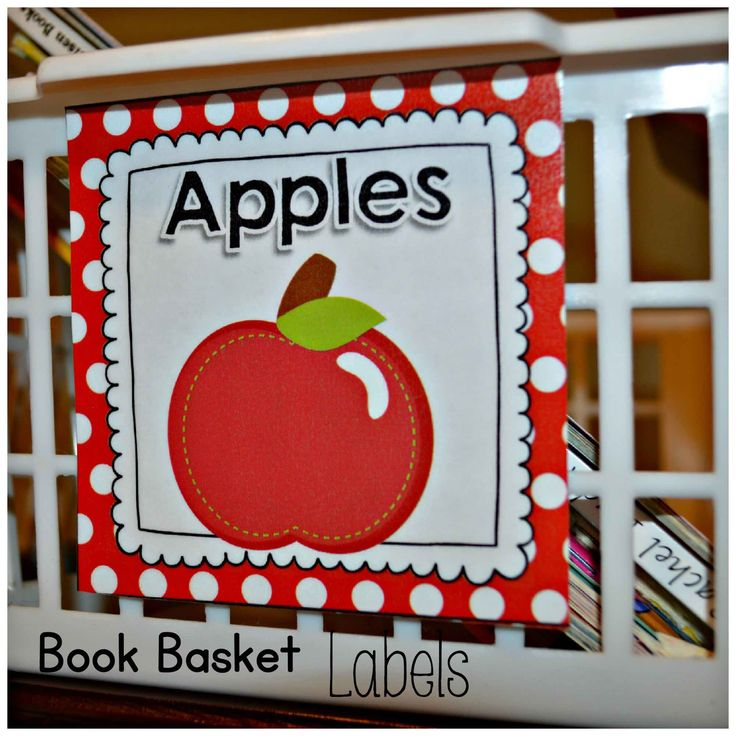 Book Basket Labels Red and White Polka Dot {EDITABLE Page Included} 1/2 Off First 2 Days