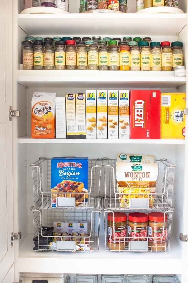 9 Tips For Kitchen Organization Happy Happy Nester In 2020 Kitchen Cupboard Storage Kitchen Pantry Storage Extra Kitchen Storage