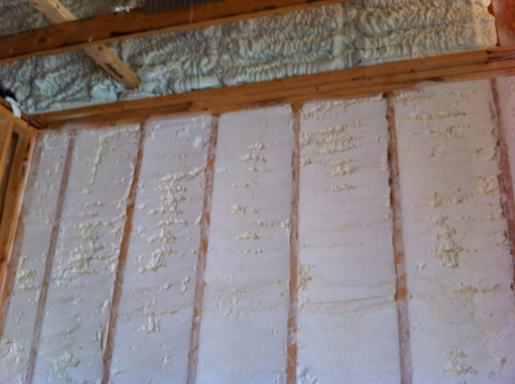 spray foam insulation on the exterior walls and closed cell spray foam