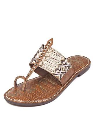 Sam Edelman Flat Sandals - Gibson Tribal Toe Ring | Bloomingdale's