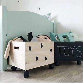 Chalkboard toy box