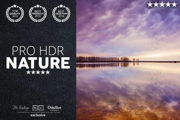 Pro HDR Nature 60 Lightroom Presets by The Heritage Co. on @creativemarket