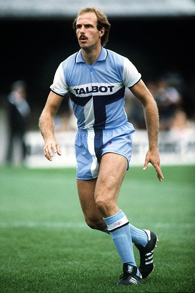 Credit: Getty Images Coventry City have been much derided for their infamous brown 'egg-timer' kit of the 1970s, often cited as the worst kit of all time, but this supposedly ingenious design, worn from 1981-83, trumps even that one. The brainchild of former manager Jimmy Hill, it incorporated the sponsor's logo into the kit design, giving the brand extra emphasis. The only…