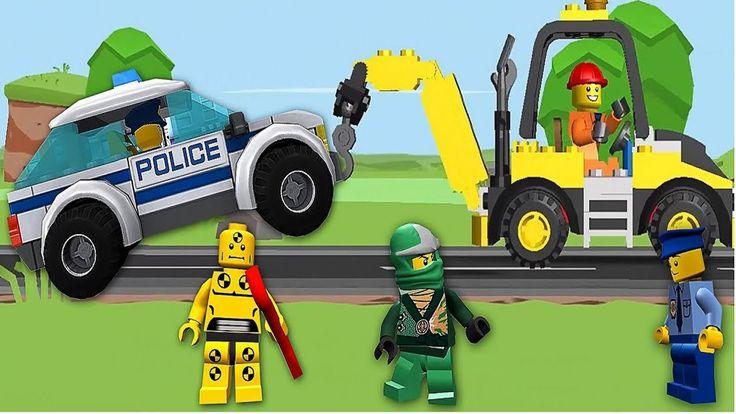 Jogo de lego/jogo de carro/policia de lego/helicóptero/video de lego de ...