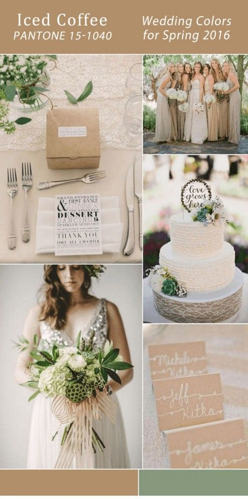 pantone iced coffee inspired neutral wedding colors for spring 2016
