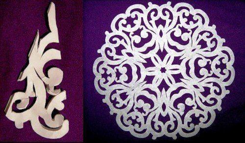 Papier Schneeflocken-Muster 7