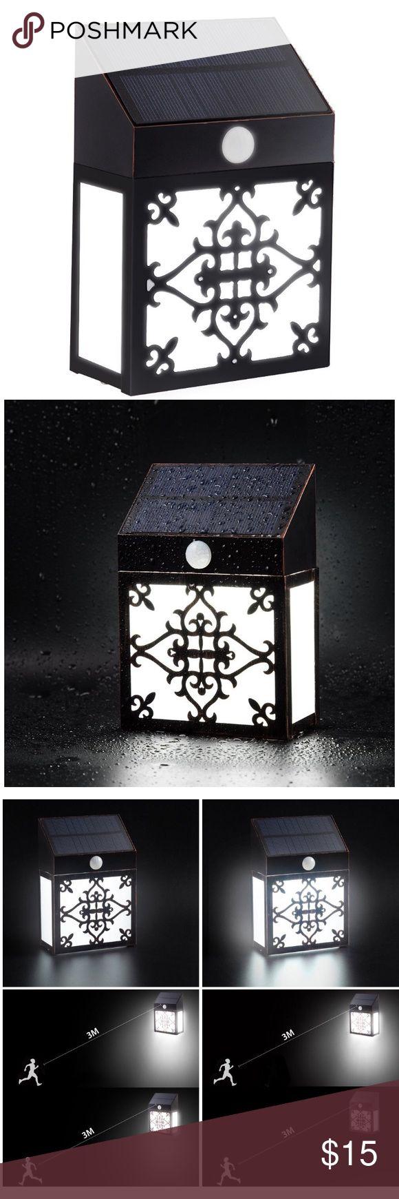 Cool Retro Solar Powered Motion Sensor Wall Lamp Light