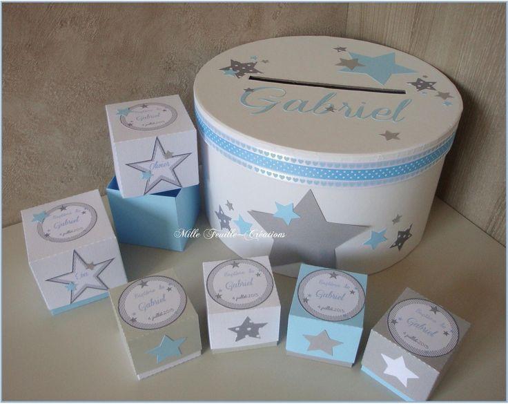 Urne de baptême personnalisée - thème assortiment d'étoiles