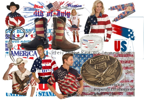 """""""4th of July!!"""" by sheplers-western-wear featuring Durango Boots!"""