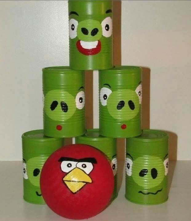 Latas diy hungry birds