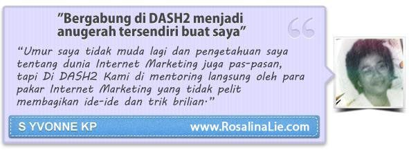 Testimoni DASH2 - RosalinaLie.com - S Yvonne KP