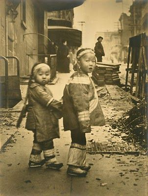 1910 Children in San Francisco's China Town by Arnold Genthe