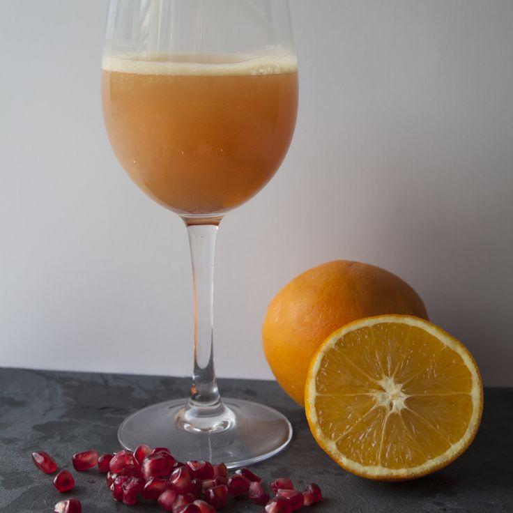 Prosecco met sinaasappelsap & granaatappelsap!
