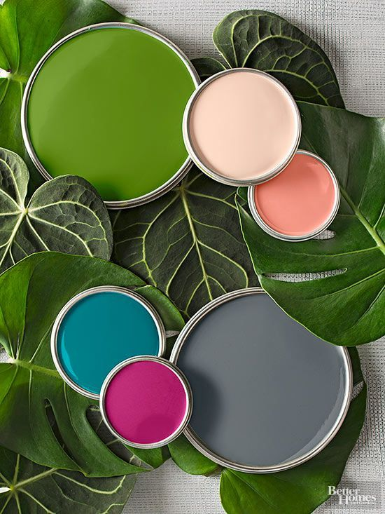 2015 Better Homes and Gardens Color Palette of the Year. Gorgeous colors! Especially loving Fresh Berry and Behr Essential Teal. Paint color names and brands on link.
