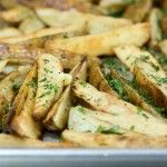 The Pioneer Woman Roasted Potato Wedges   MY NOTE: I used salt, pepper, garlic powder & parm cheese.  Don't use quite as much salt because the parm cheese is salty.  I added parsley at the end.  Great flavor!