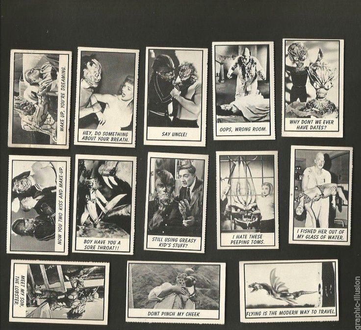 30 MONSTER trading cards old ORIGINAL 1960's American ...
