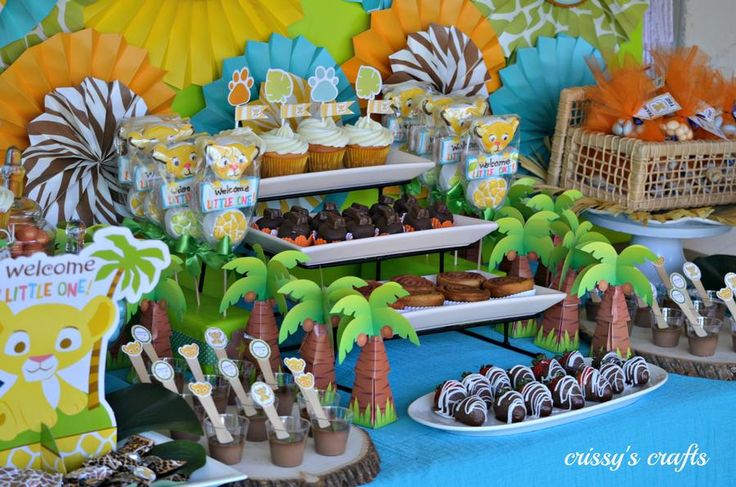 Lion King Baby Shower Dessert Table Baby Shower Party