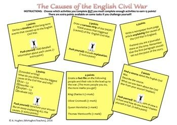 What caused the civil war dbq