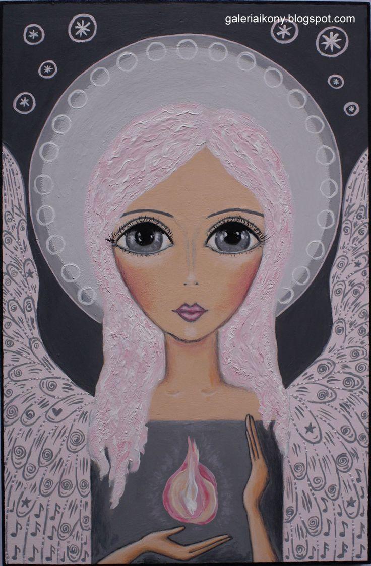 Angel Guardian bringing good energy and light. Żukowska