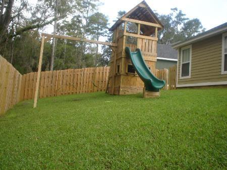 Tallahassee Swing Sets by Design - Custom Built Swingsets ... on Unlevel Backyard Ideas id=70606