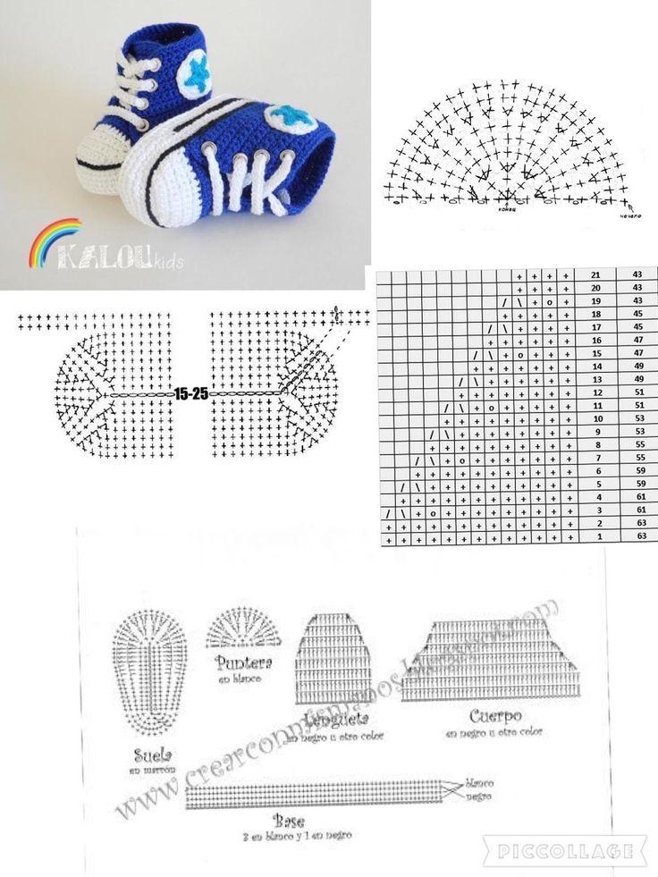 Вязание спицами детские пинетки кеды фото схема и описание