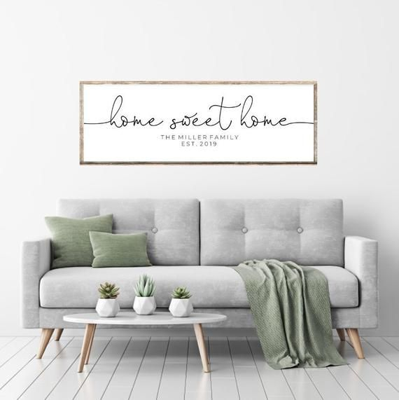 Home Sweet Home Printable Family Last Name Year Established Etsy Living Room Prints Bedroom Signs Living Room Quotes