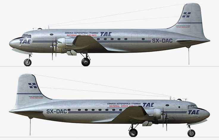 TAE Greek National Airlines Douglas C-54E-15-DO Skymaster (DC-4) [SX-DAC]