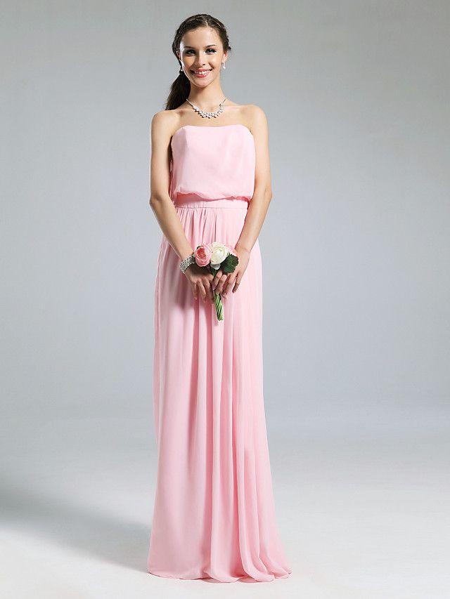 BEDELIA - Robe de Demoiselle d'Honneur Mousseline Satin Stretch - USD $84.99