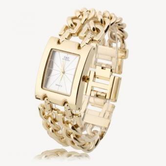 Reloj Cuarzo Brazalete Pulsera Esfera Plateado Correa Color Dorado Mujer Moda