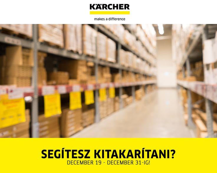 Év végi raktárkisöprés 20-30-40% árengedménnyel! https://www.kaercher.com/hu/