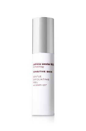Patricia Wexler M.D. Dermatology Sensitive Skin Gentle Exfoliating Peel by Patricia Wexler M.D.. $44.99. An exfoliator gentle enough for daily use on sensitive skin, this leave-on peel smooths on comfortably and absorbs easily into skin. Formulated with a unique blend of glycolic acid and skin-soothing ingredients specially developed for sensitive skin types, it visibly restores luminosity, leaving skin looking more even-toned and radiant.