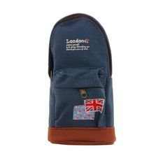 creative canvas pencil case storage bag b07 (dark blue) (intl)