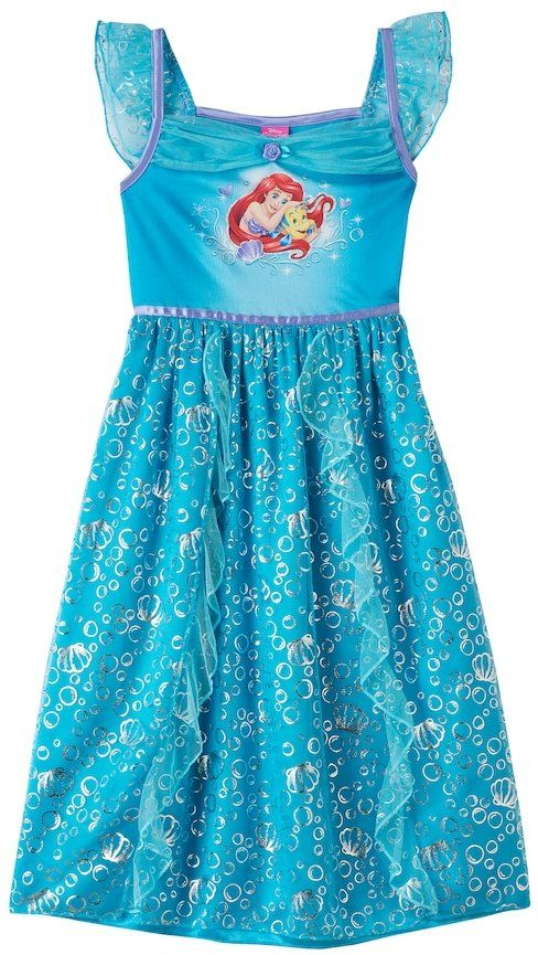 Disney Princess Ariel & Flounder Girls 4-8 Fantasy Nightgown so cute can't wait to give to my grandaughter for xmas. #shopping #gifts #ad