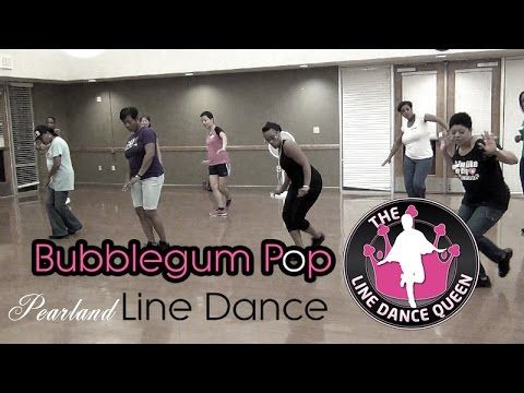 """BubbleGum Pop Line Dance-In Class (Jason Derulo) - YouTube  This is tooooo much fun! I absolutely LOVE doing this line dance.  This dance is several line dance moves incorporated into one dance. Dance moves called """"strong arm"""" and """"talk dirty"""" were created by TLDQ herself.  Take a look and and look out for instructions to this one too.  #BubbleGumPop #LineDance"""
