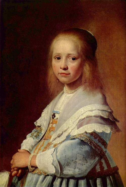 1641 Johannes Cornelisz Verspronck - Portrait of a Girl in Blue