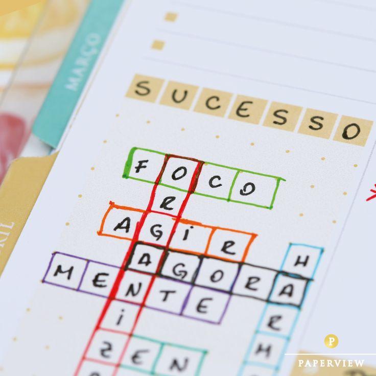 Que tal criar uma palavras cruzadas com o que você deseja para essa semana?  #sucesso #palavrascruzadas #meudailyplanner #dailyplanner #planneraddict #paperview_papelaria