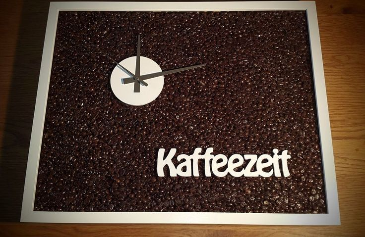 "Design Funk-Wanduhr ""Kaffeezeit"" mit Naturkaffee"