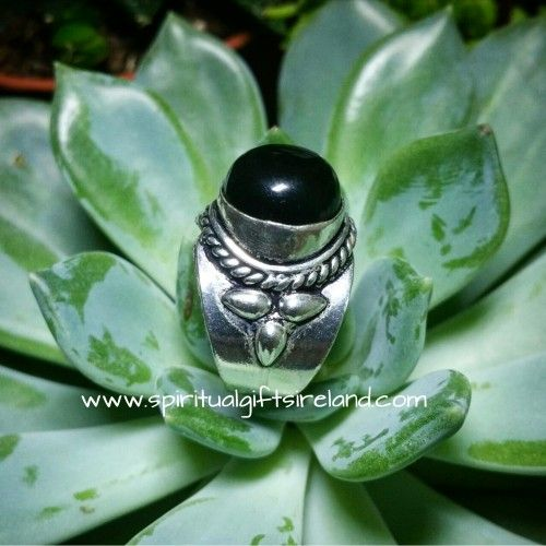 Handcrafted Black Onyx Totem Ring  Visit our store at www.spiritualgiftsireland.com  Follow Spiritual Gifts Ireland on www.facebook.com/spiritualgiftsireland www.instagram.com/spiritualgiftsireland www.etsy.com/shop/spiritualgiftireland	  We are also featured on Tumblr